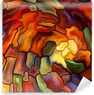 Vinylová Fototapeta Vizualizace digitálního barevného skla