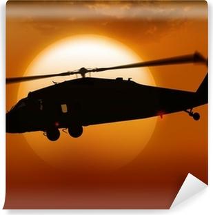 Vinylová Fototapeta Vrtulník a slunce