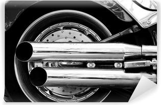 Vinylová Fototapeta Výfukové trubky o motocyklu legendy