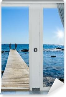 Fototapeta winylowa Widok na morze z molo