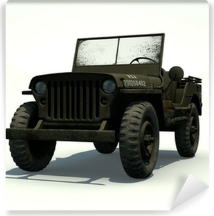 Fototapeta winylowa Willys Jeep Izolowane 3D