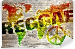 Vinylová Fototapeta World reggae hudba koncepce pro mír