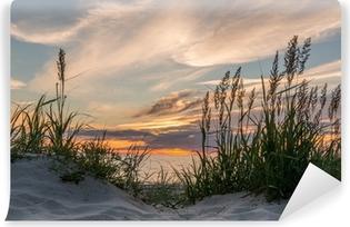 Vinylová Fototapeta Západ slunce na pláži Darß u Baltského moře, Meklenbursko-západ