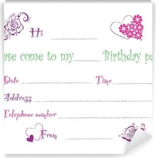 Naklejka Zaproszenie Urodziny Pixers żyjemy By Zmieniać