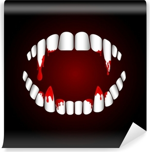 Fototapeta winylowa Zęby wampira