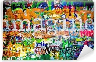 Vinylová Fototapeta Zeď Johna Lennona (Praha) - Představte si, že (Toma 1)