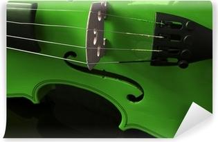 Vinylová Fototapeta Zelená housle