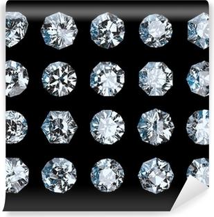 Fototapeta winylowa Zestaw diamentów