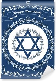 Vinylová Fototapeta Židovská chanuka svátek pozadí s Davidovy hvězdy - Vect