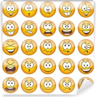 Fototapeta zmywalna 25 żółte emotikony