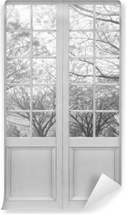 Fototapeta zmywalna Białe drzwi - Aleja.
