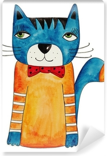 Fototapeta zmywalna Cat. Artwork, tusz i akwarela na papierze