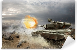 Fototapeta zmywalna Ciężka zbroja w ogniu walki
