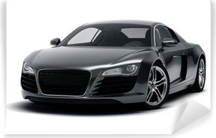 Fototapeta zmywalna Czarny samochód sportowy