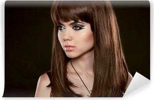 Plakat Fryzura Piękne Kobiety Z Długo Zdrowych Brązowe