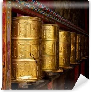 Fototapeta zmywalna Koła modlitewne w klasztorze Sakya