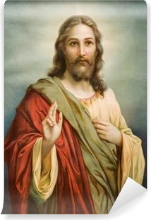 Fototapeta zmywalna Kopia obrazu typowej katolickiej Jezusa Chrystusa