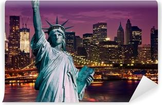 Fototapeta zmywalna Manhattan Nowy Jork pomnik de la Liberte