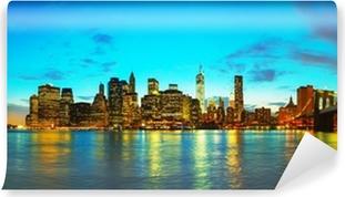 Fototapeta zmywalna Nowy Jork pejzaż o zachodzie słońca