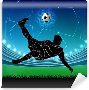 Fototapeta zmywalna Piłkarz - nożyczki