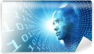 Fototapeta zmywalna Sztuczna inteligencja koncepcji ilustracji