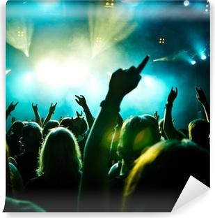 Fototapeta zmywalna Tłum koncert w ruchu