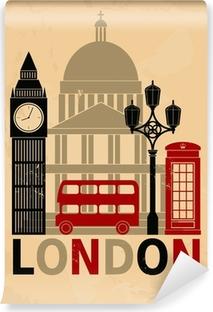 Fototapeta zmywalna Vintage London Poster