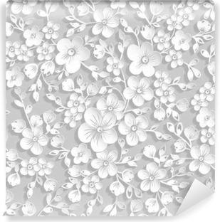 a6003fda464cf9 Obraz na płótnie Kwiatowy wzór z kotami miłośników • Pixers® - Żyjemy by  zmieniać