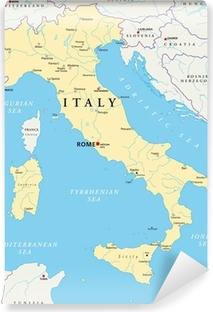 Fototapeta zmywalna Włochy Mapa