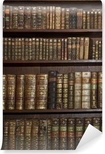 Fototapeta zmywalna Zabytkowe stare książki w starej biblioteki półki