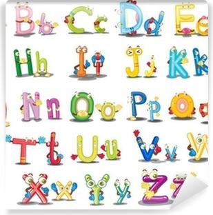 Vinylová Fototapeta Znaky abecedy