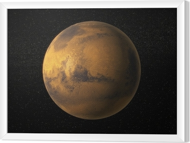A view of planet Mars Framed Canvas