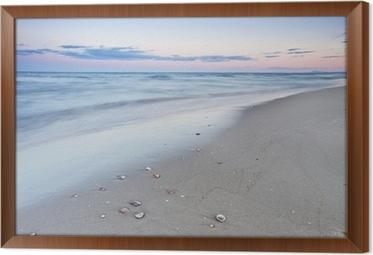 A walk on the beach Framed Canvas