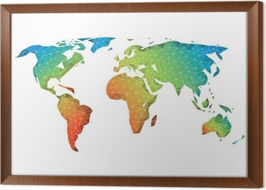 Abstract low poly world map vector wall mural pixers we live abstract low poly world map vector framed canvas gumiabroncs Image collections