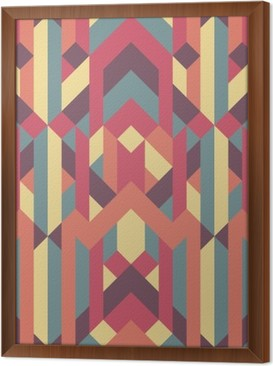 abstract retro geometric pattern Framed Canvas