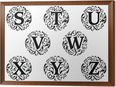 Alphabet Ornament Design S to Z Wall Mural • Pixers® - We live to change