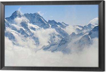 Alps mountain landscape Framed Canvas