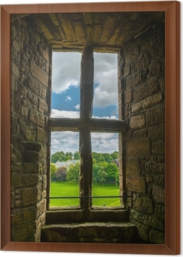 Altes Fenster altes fenster mit blick auf den garten wall mural pixers we