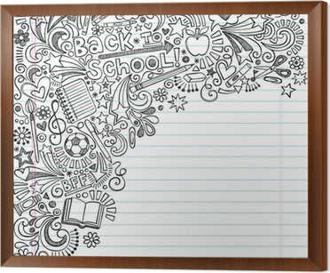 Back to school inky doodles vector on notebook paper background wall back to school inky doodles vector on notebook paper background framed canvas altavistaventures Gallery