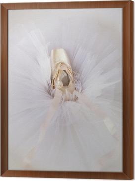 ballet shoes 1 Framed Canvas