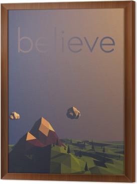 Believe Framed Canvas