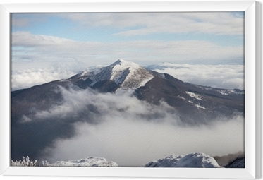 Bieszczady Winter Framed Canvas