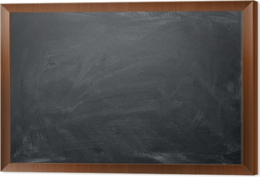 blank chalkboard blackboard texture with copy space framed canvas