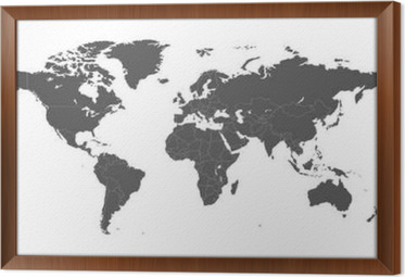 Blank grey political world map isolated on white background blank grey political world map isolated on white background worldmap vector template for website gumiabroncs Gallery