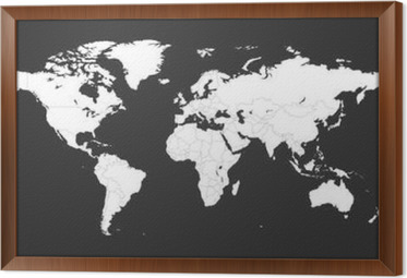 Blank white political world map isolated on black background blank white political world map isolated on black background worldmap vector template for website gumiabroncs Gallery