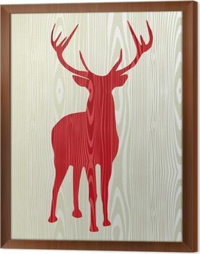 Christmas Wooden Reindeer Silhouette Wall Mural Pixers We Live