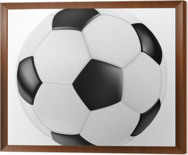 Classic Black White Leather Vector Soccer Ball Fussball