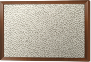 Closeup Of Seamless White Leather Texture Framed Canvas