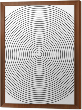 Concentric circle element on a white background Framed Canvas