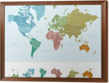 Continents and countries on the world map marked colored highly continents and countries on the world map marked colored highly detailed world map vector gumiabroncs Gallery